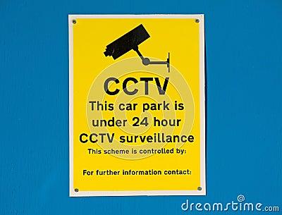 Car Park 24 hour CCTV surveillance.