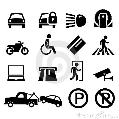 Car Park Parking Area Sign Symbol Pictogram Icon