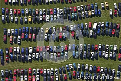 Car park rows