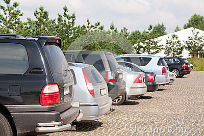 Car parking in Sports and Entertainment Complex Foxhole Editorial Stock Image