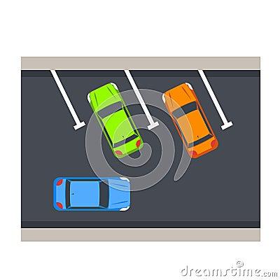 Car parking vector illustration. Vector Illustration