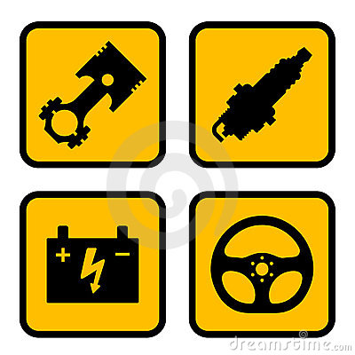Car Part Symbols Stock Photography - Image: 22506462