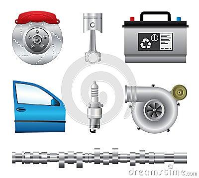 Free Car Parts Set Stock Image - 29960601