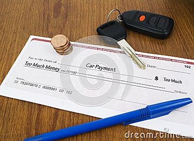 Car Payment Concept