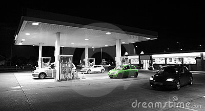 Car petrol / gas station