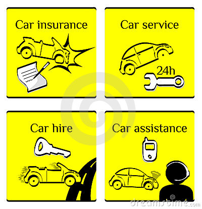Car pictogram set