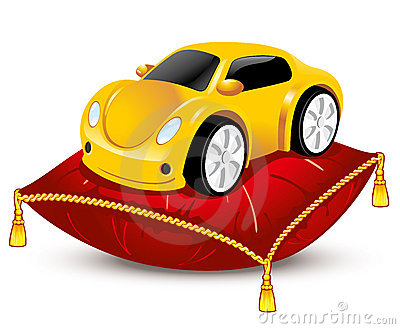Car on the pillow