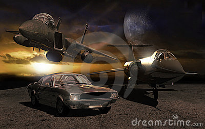 Car and planes
