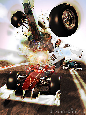 Car race accident Editorial Photography