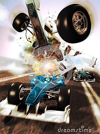 Car race accident