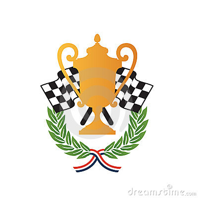 Car race winner award design
