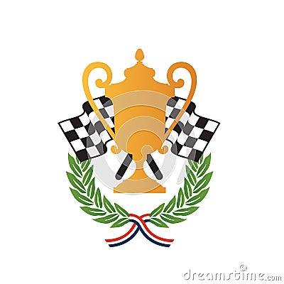 Car race winner award design