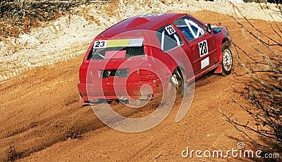 The car on races