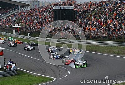 Car Racing(A1 GP) Editorial Photo