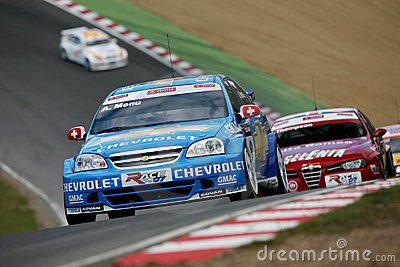 Car Racing(Chevrolet Lacetti,FIA WTCC) Editorial Photography