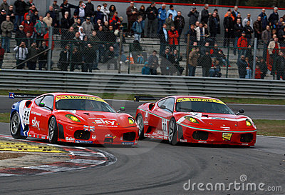 Car Racing(Ferrari F430,FIA GT) Editorial Stock Image