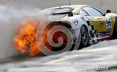 Car Racing(Le Mans Series race) Editorial Stock Photo