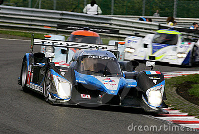 Car Racing(PEUGEOT908 HDi-FAP) Editorial Stock Image