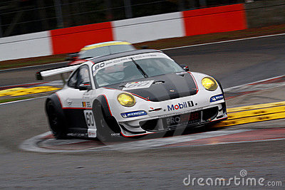 Car Racing(Porsche 911 GT3 RS,FIA GT) Editorial Photo