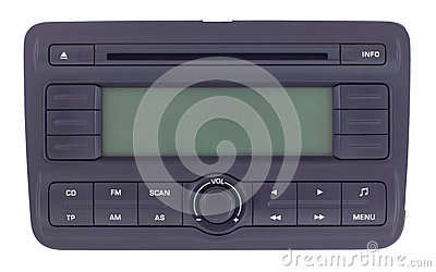 Car radio panel isolated