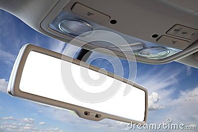 Car rear view mirror.