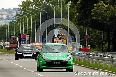 CAR RENAULT CLIO SPORT AND AUDI R8 Editorial Image