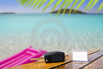 Car rental keys in vacation Caribbean