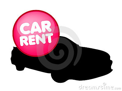 Car rental vector logo
