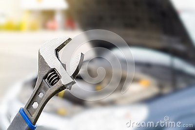 Car repair, maintenance and vehicle inspection concept. Stock Photo