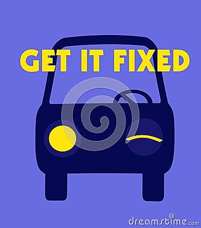 Car repair poster