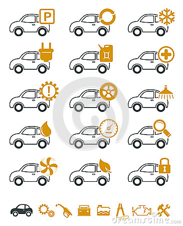 Car repair and service icons