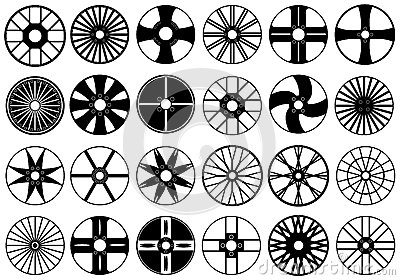 Car rims illustration