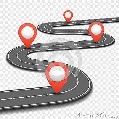 Car road, street, highway business roadmap infographics design vector template Vector Illustration