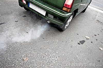 Car s exhaust pipe