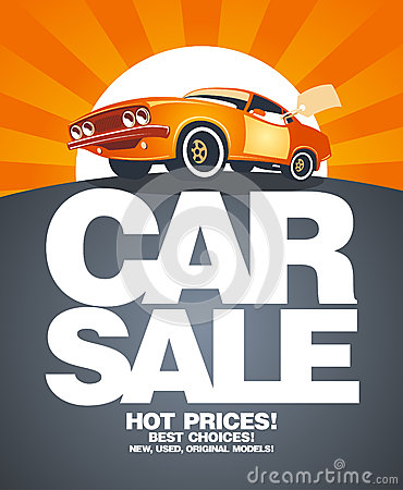 Free Car Sale Design Template. Royalty Free Stock Photo - 25709455