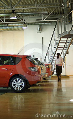 Car sales interior