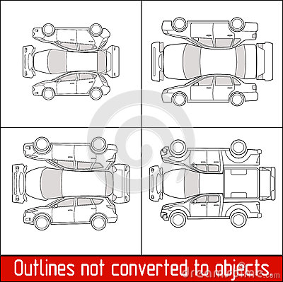 Car sedan hatchback suv pickup vehicle check condition and - Vehicle exterior inspection checklist ...