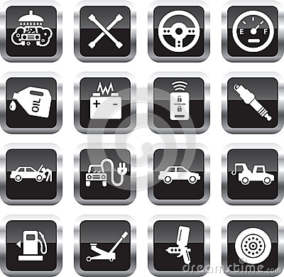 Free Car Service Icons Stock Images - 30922034