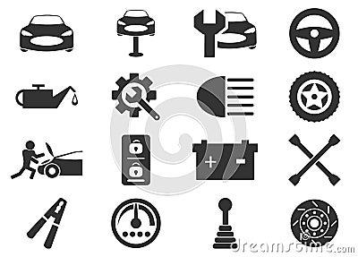 Car service icons set Vector Illustration