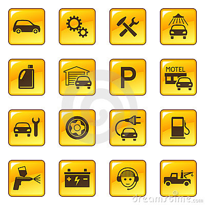 Car service & repair icons