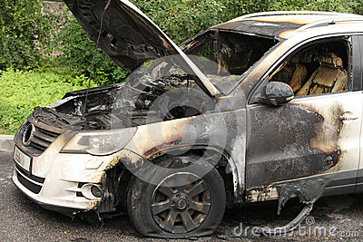 Car set on fire