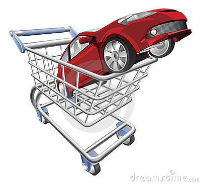 Car shopping cart concept