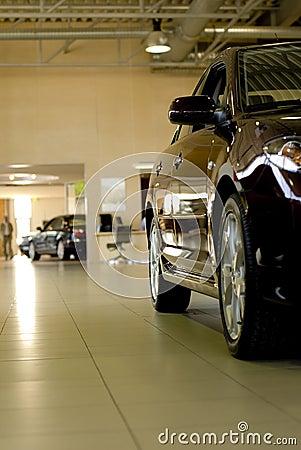 Car in showroom