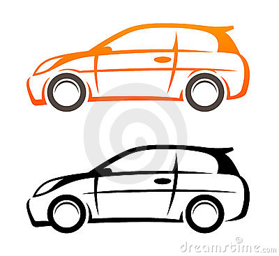 Car Vector Icon Car icon styled to sketch