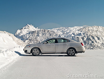 Car and snowbank