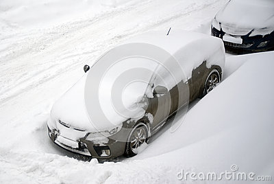Car in snowy weather