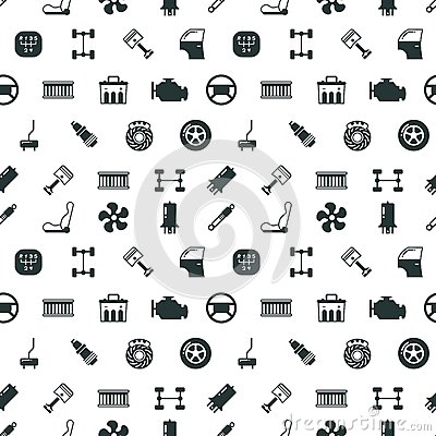 Free Car Spare Parts Vector Seamless Pattern Stock Photos - 86575983