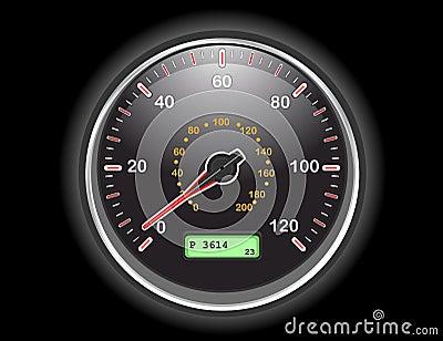 Car speedometer dial