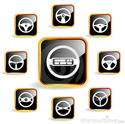 Car steering wheel crystal icon