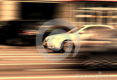 Car street traffic motion
